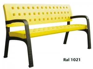 banc-urbain-plastique-jaune